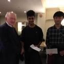 Asian Persuasion - Best Team Name Prize winners Ravi Haria and Akito Oyama